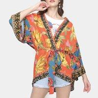 Kimono Farm Lenço Postal Feminino - Vermelho