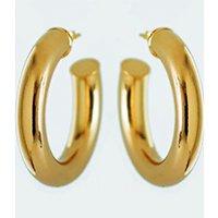 Brinco Argola Tubo Chunky Grande - Dourado