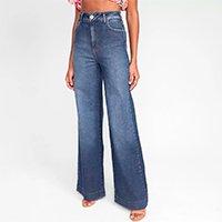 Calça Jeans Flare Colcci Cintura Alta Feminina - Azul