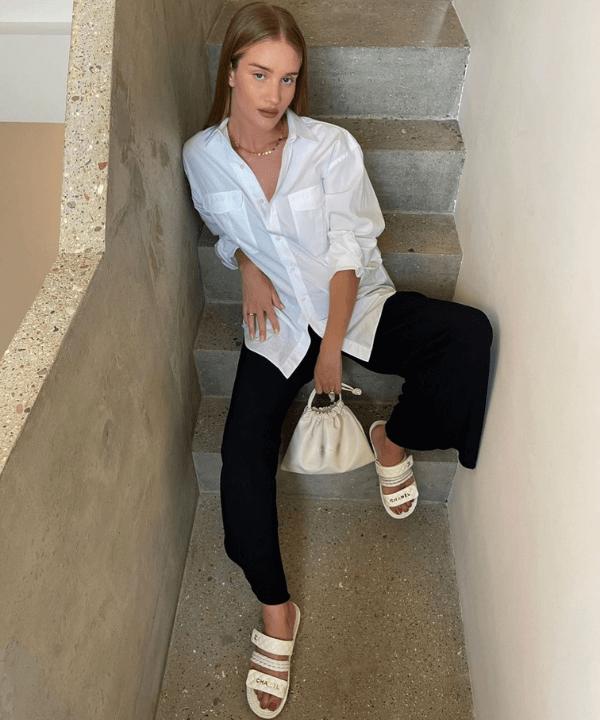Rosie Huntington-Whiteley - Casual - looks de celebridades - Verão - Steal the Look  - https://stealthelook.com.br