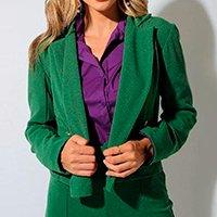 Blazer Cropped Eight Brand Yasmin Feminino - Verde