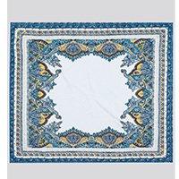 lenço feminino plissado estampado paisley branco - único