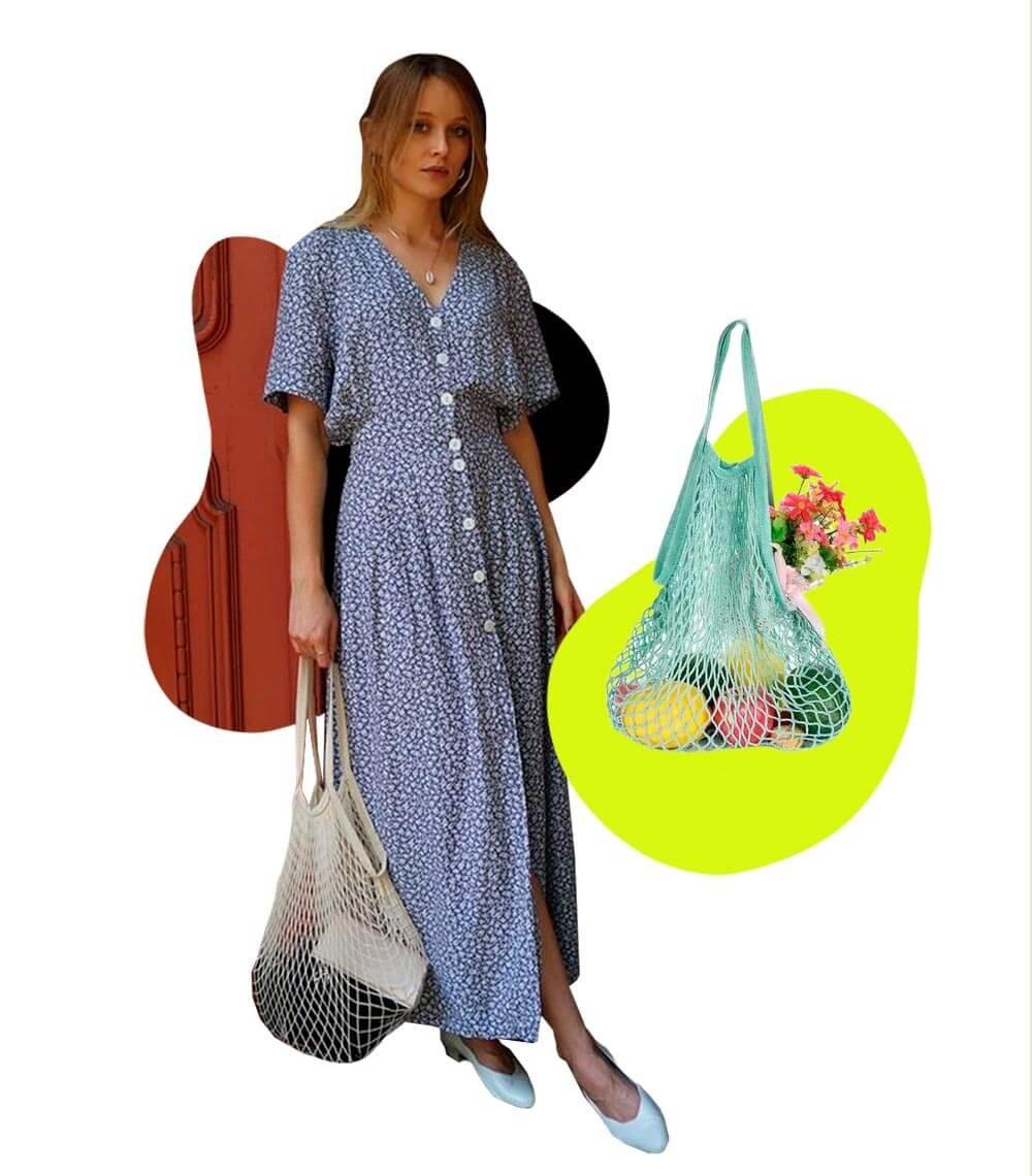Fishnet bags - Vestido - tendências de verão - Verão - Steal the Look  - https://stealthelook.com.br