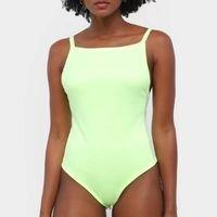 Body Roxy Fluorescente Alcinha - Verde Limão