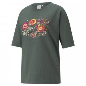 Puma Puma X Liberty Camiseta Graphic Feminina – Cor Verde - Tamanho Gg