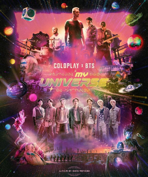 BTS e Coldplay - 2021 - BTS - My Universe - Coldplay - https://stealthelook.com.br