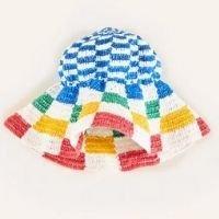 chapeu croche de rafia - multicolorido - u