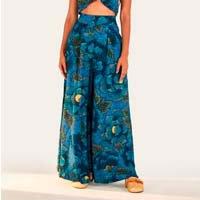 calça pantalona floral alicia