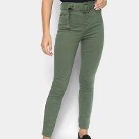 Calça Sarja Cambos Skinny Feminina - Verde