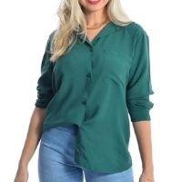 Camisa Feminina Social Manga Longa Verde - Fernanda Ramos Store