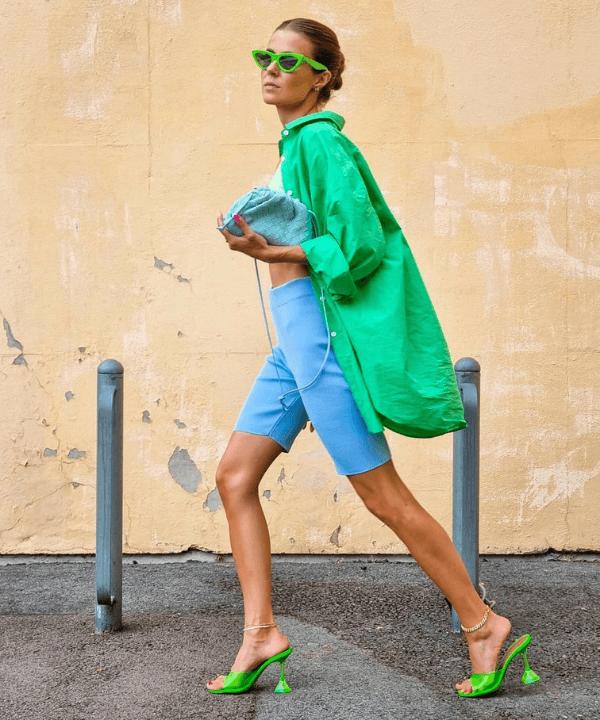 Nina Sandbech - Street Style - camisa verde - Verão - Steal the Look  - https://stealthelook.com.br