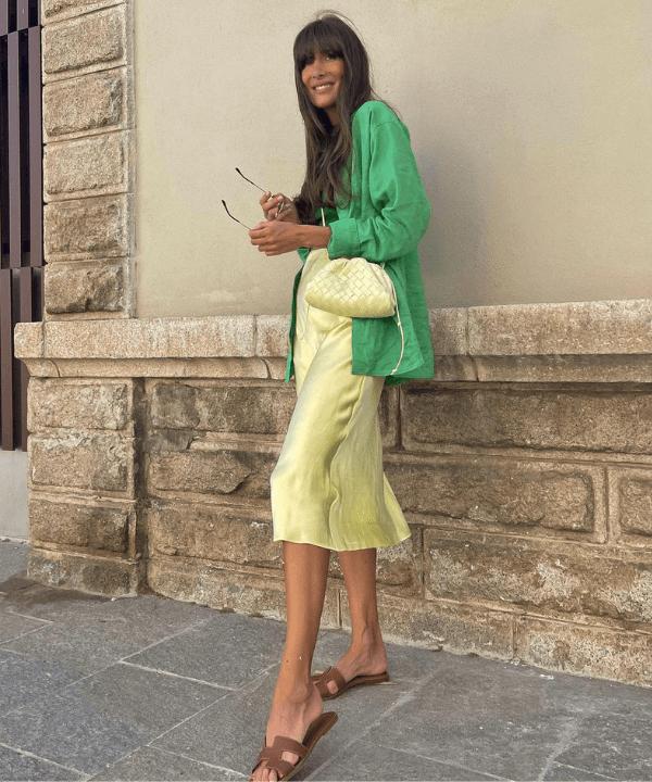 Julie Sergent Ferreri - Street Style - camisa verde - Verão - Steal the Look  - https://stealthelook.com.br