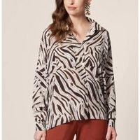Camisa Manga Longa Zebra Feminina - Estampado