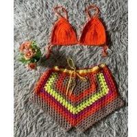 Conjuntinho Summer em crochê Cláudia Olivetti