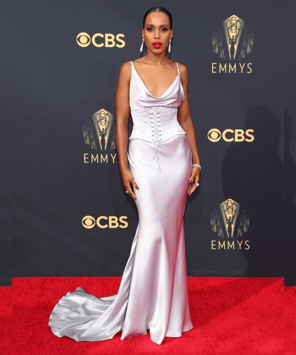 Kerry Washington - Tapete vermelho - Emmy Awards 2021 - Verão - Los Angeles - https://stealthelook.com.br