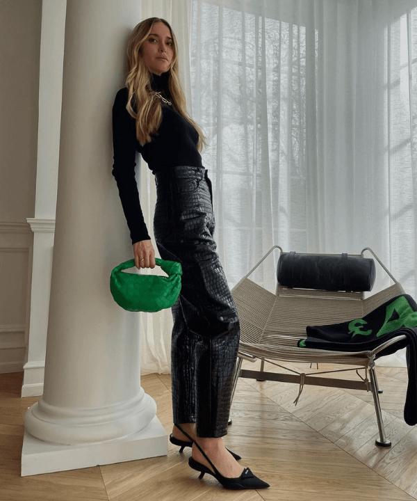 Pernille Teisbaek - Street Style - looks com calça preta - Primavera - Steal the Look  - https://stealthelook.com.br
