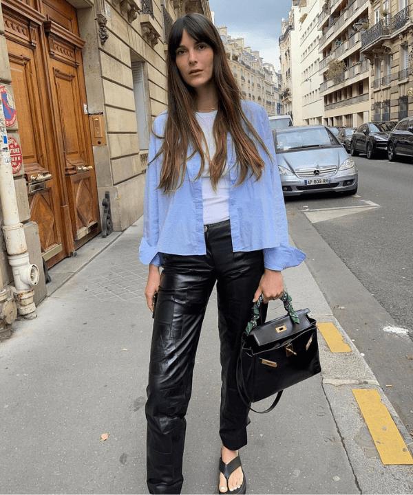 Leia Sfez - Street Style - looks com calça preta - Verão - Steal the Look  - https://stealthelook.com.br