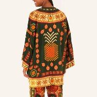 kimono lenço marroquino - est serpente de flor_preto - u