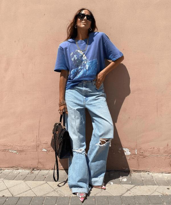 Laura Eguizabal - Street Style - calça pantalona - Verão - Steal the Look  - https://stealthelook.com.br