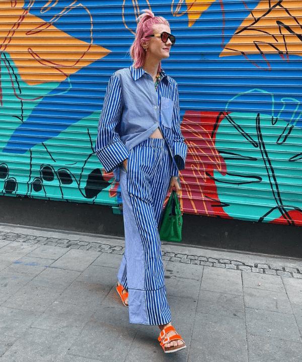 Marianne Theodorsen - Street Style - calça pantalona - Verão - Steal the Look  - https://stealthelook.com.br