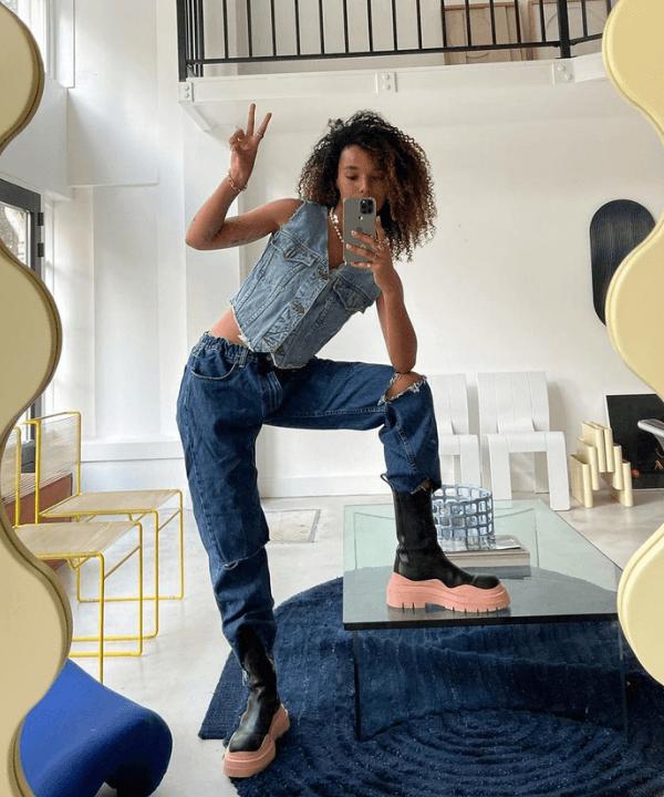 Fiah Hameliknck - Street Style - como usar botas - Verão - Steal the Look  - https://stealthelook.com.br