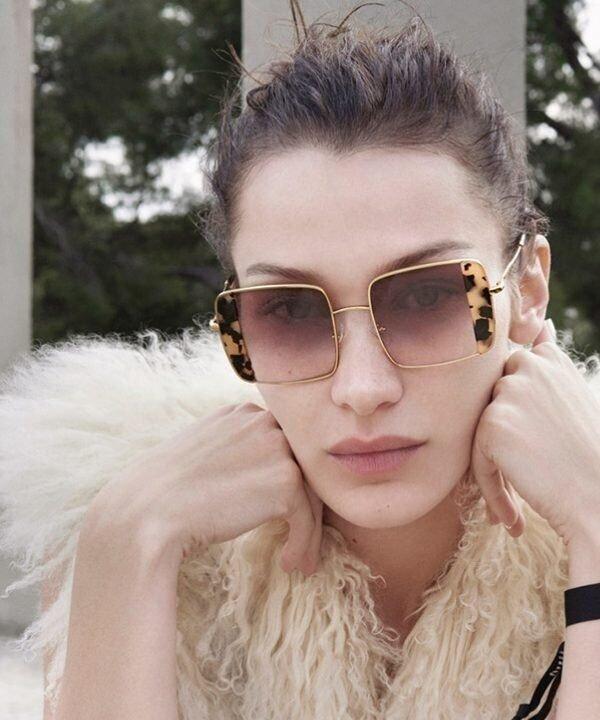 Bella Hadid  - 2021 - modelos de óculos - publi - óculos de sol - https://stealthelook.com.br