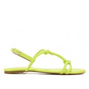 Rasteira Shoestock Color Tiras - Feminino - Amarelo