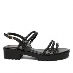Sandália Shoestock Tratorada Handmade Feminina - Feminino - Preto