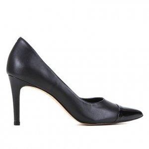 Scarpin Couro Shoestock Fátima Bico Fino Salto Alto - Feminino - Preto