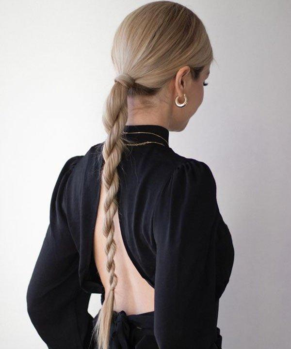 Penteado com Twister  - cabelo torcido  - rabo de cavalo  - rabo baixo  - rabo baixo torcido  - https://stealthelook.com.br