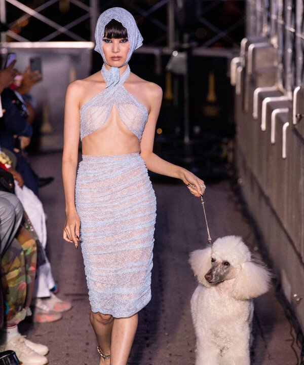 LaQuan Smith - 2022 - New York Fashion Week - Primavera - Verão - transparência - https://stealthelook.com.br