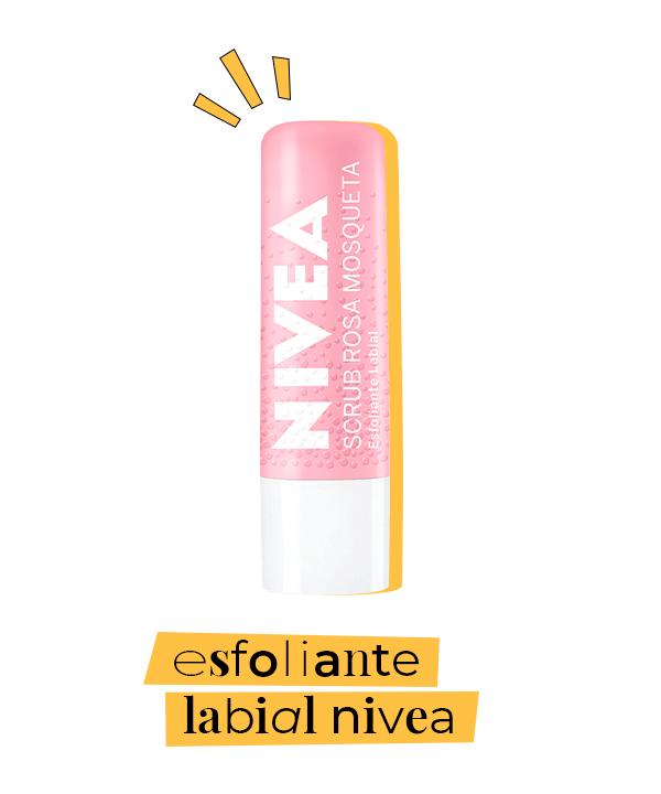 esfoliante labial  - cuidado com os lábios  - skincare acessível  - esfoliante no skincare  - scrub nivea  - https://stealthelook.com.br