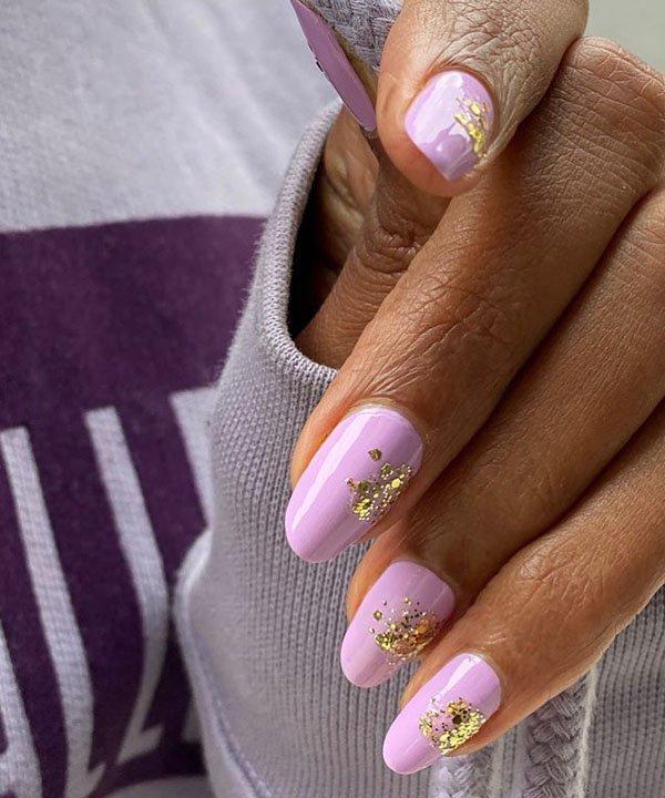 glitter em ouro - unhas inusitadas - esmalte com glitter - esmaltes com glitter - ouro nas unhas - https://stealthelook.com.br