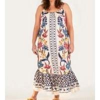 vestido cropped floral padang lenço