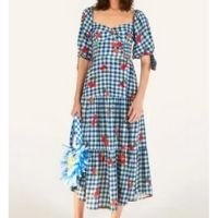 vestido cropped pintanga vichy