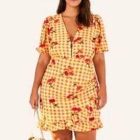 vestido curto pitanga vichy
