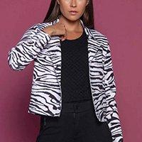 Casaco Armazém RR Closet Zebra Pespontado - Branco