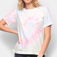 Camiseta Volare Tye Dye Feminina - Azul