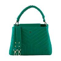 Bolsa Feminina Mayon 5225 Alça de Trança Couro Limão - Verde