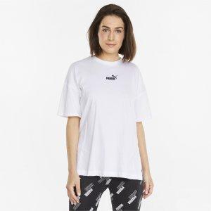 Puma Camiseta Power Elongated Feminina – Cor Branco - Tamanho Egg