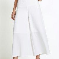 bonprix - Calça Alfaitaria Pantalona Branca