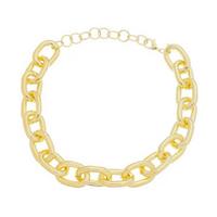 Colar curto piuka irina elos correntes folheado a ouro 18k Feminino - Dourado