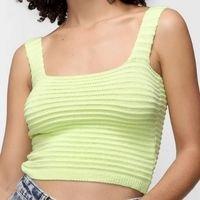 Top Oh, Boy!Tricot Canelado Feminino - Verde Limão