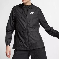Jaqueta Nike Sportswear Windrunner Feminina - Preto+Branco