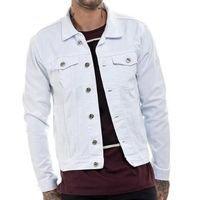 OFFERT Jaqueta Jeans Premium Slim Fit Masculina - Branco