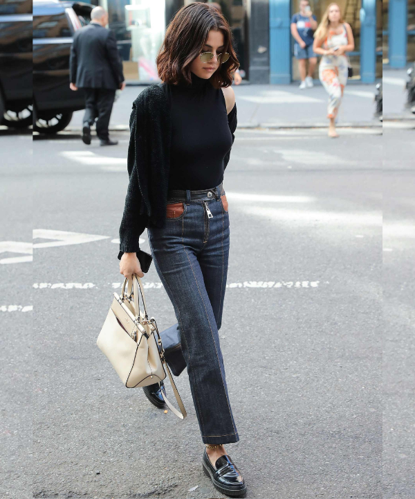 Selena Gomez - Street Style - sapato tendência - Outono - Steal the Look  - https://stealthelook.com.br