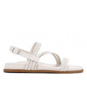 Sandália Shoestock Papete Comfy Trança - Feminino - Off White