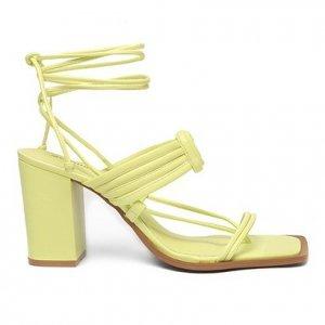 Sandália Shoestock Color Salto Bloco Alto Feminina - Feminino - Verde