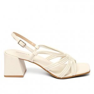 Sandália Shoestock Color Salto Bloco Médio Feminina - Feminino - Off White