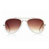 óculos aviador armação branca
